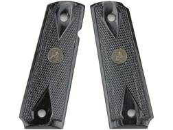Pachmayr Renegade Laminate Wood Grip 1911 Government, Commander Checkered Charcoal Silvertone