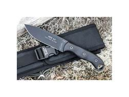 "TOPS Knives HOG 4.5 Fixed Blade Tactical Knife 4.38"" Drop Point 1095 Carbon Steel Blade Micarta H..."
