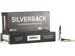 Gorilla Silverback Self Defense and Hunting Ammunition 300 AAC Blackout 85 Grain Hollow Point Cop...