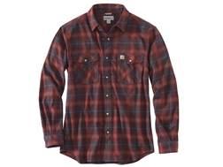 Carhartt Men's Rugged Flex Hamilton Snap Front Flannel Plaid Shirt Long Sleeve Cotton/Spandex Dar...
