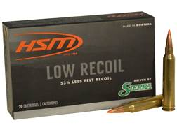 HSM Low Recoil Ammunition 7mm Remington Magnum 140 Grain Sierra Tipped Spitzer Boat Tail Box of 20