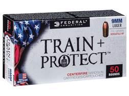 Federal Train + Protect Ammunition 9mm Luger 115 Grain Versatile Hollow Point