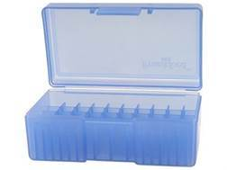 Frankford Arsenal Flip-Top Ammo Box #503 38 Special, 38 Super, 357 Magnum 50-Round Plastic Blue