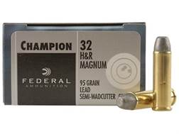 Federal Champion Target Ammunition 32 H&R Magnum 95 Grain Lead Semi-Wadcutter Box of 20