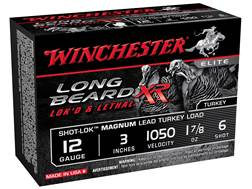 "Winchester Long Beard XR Turkey Ammunition 12 Gauge 3"" 1-7/8 oz #6 Copper Plated Shot"