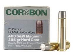 Cor-Bon Hunter Ammunition 460 S&W Magnum 395 Grain Hard Cast Lead Flat Nose Box of 20