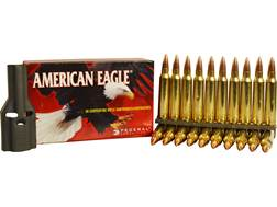 Federal American Eagle Ammunition 223 Remington 55 Grain Full Metal Jacket Boat Tail 10 Round Cli...