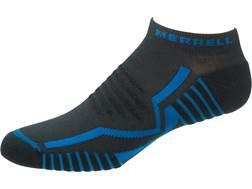 Merrell Men's Trail Glove Elite Micro Socks Synthetic Charcoal/Snorkel Blue Medium