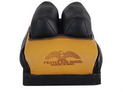 Protektor Custom Bumble Bee Dr Leather Mid-Ear Rear Shooting Rest Bag Leather Tan Filled