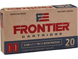 Frontier Cartridge Military Grade Ammunition 5.56x45mm NATO 75 Grain Hornady Hollow Point Boat Ta...