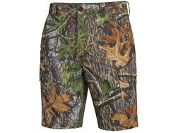 """Under Armour Men's UA Camo Fish Hunter Cargo Shorts Polyester Blend Mossy Oak Obsession 21"""" Outse..."""