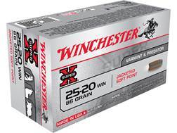 Winchester Super-X Ammunition 25-20 WCF 86 Grain Soft Point