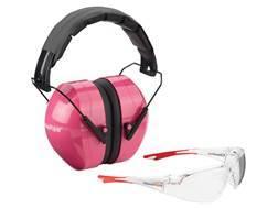Champion Eyes and Ears Range Safety Kit Combo-Passive Earmuffs Ballistic Glasses (NRR 26dB) Pink ...