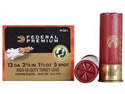 "Federal Premium Mag-Shok Turkey Ammunition 12 Gauge 2-3/4"" 1-1/2 oz #5 Copper Plated Shot High Ve..."
