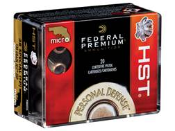 Federal Premium Personal Defense Ammunition 38 Special +P 129 Grain Hydra-Shok Jacketed Hollow Po...