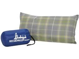 "Slumberjack Slumberloft HP Camp Pillow 10"" x 20"" Cotton Flannel Plaid"