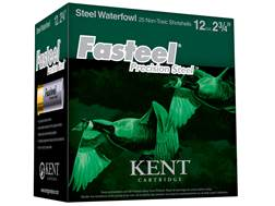 "Kent Cartridge Fasteel Precision Steel Waterfowl Ammunition 12 Gauge 2-3/4"" 1-1/16 oz #4 Non-Toxi..."