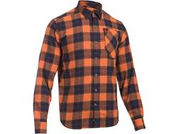 Under Armour Men's UA Borderland Flannel Shirt Long Sleeve Cotton and Polyester