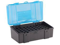 Plano Ammo Box 220 Swift, 243 Winchester, 308 Winchester 50-Round Plastic Dark Gray and Clear Blue