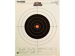 "Champion Score Keeper 100 Yard Small Bore Rifle Targets 14"" x 18"" Paper Orange Bull Pack of 12"