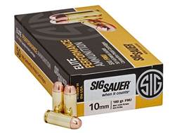 Sig Sauer Elite Performance Ammunition 10mm Auto 180 Grain Full Metal Jacket Box of 50