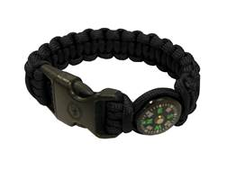 UST Paracord Survival Bracelet with Compass Black