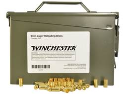 Winchester Reloading Brass 9mm Luger Ammo Can of 500 (Bulk Packaged)