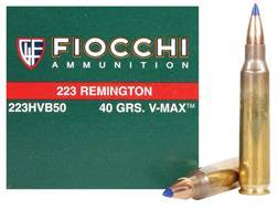 Fiocchi Extrema Ammunition 223 Remington 40 Grain Hornady V-Max Ammunition