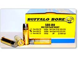 Buffalo Bore Ammunition 500 JRH (500 S&W Short) 440 Grain Hard Cast Lead Flat Nose Box Low Recoil...
