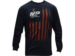 Smith & Wesson Men's R/W/B Flag T-Shirt Long Sleeve Cotton