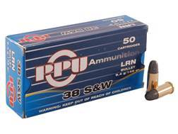 Prvi Partizan Ammunition 38 S&W 145 Grain Lead Round Nose Box of 50