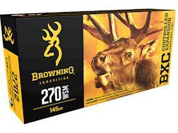 Browning BXC Controlled Expansion Ammunition 270 Winchester Short Magnum (WSM) 145 Grain Terminal...