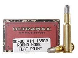 Ultramax Cowboy Action Ammunition 30-30 Winchester 165 Grain Lead Flat Nose Box of 20