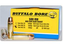 Buffalo Bore Ammunition 500 JRH (500 S&W Short) 350 Grain Jacketed Hollow Point Box of 20
