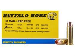 Buffalo Bore Ammunition 44 Remington Magnum 225 Grain Barnes XPB Solid Copper Hollow Point Lead-F...