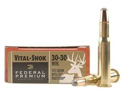 Federal Premium Vital-Shok Ammunition 30-30 Winchester 170 Grain Nosler Partition Box of 20