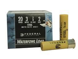 "Federal Speed-Shok Waterfowl Ammunition 20 Gauge 3"" 7/8 oz #2 Non-Toxic Steel Shot"