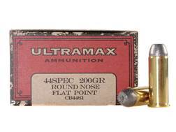 Ultramax Cowboy Action Ammunition 44 Special 200 Grain Lead Flat Nose Box of 50