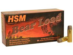 HSM Bear Ammunition 45 Colt (Long Colt) +P 325 Grain Lead Wide Flat Nose Gas Check Box of 50