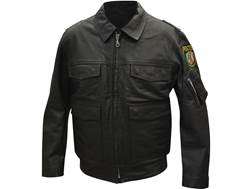 Military Surplus German Police Jacket Grade 2 Leather Black Small
