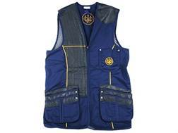 """Beretta Gold Shooting Vest Right Hand Cotton and Polyester Blend Blue Size 40"""""""