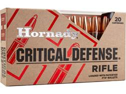 Hornady Critical Defense Ammunition 308 Winchester 155 Grain Flex Tip eXpanding Box of 20