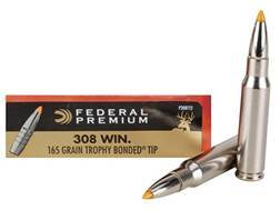Federal Premium Vital-Shok Ammunition 308 Winchester 165 Grain Trophy Bonded Tip Box of 20