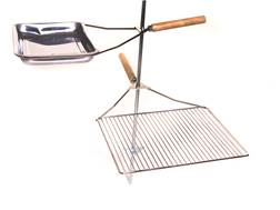 Camp Chef Lumberjack Over Fire Stake Camp Grill Stainless Steel