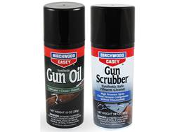 Birchwood Casey Gun Scrubber Synthetic Safe Cleaner and Synthetic Gun Oil Combo Pack 10 oz Aerosol