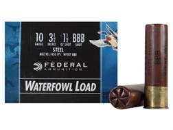 "Federal Speed-Shok Waterfowl Ammunition 10 Gauge 3-1/2"" 1-1/2 oz BBB Non-Toxic Steel Shot"