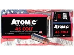 Atomic Ammunition 45 Colt (Long Colt) 250 Grain Bonded Match Hollow Point Box of 50
