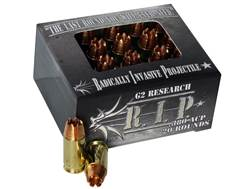 G2 Research R.I.P. Ammunition 380 ACP 62 Grain Radically Invasive Projectile Fragmenting Solid Co...