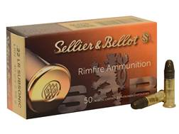 Sellier & Bellot Ammunition 22 Long Rifle 40 Grain Lead Round Nose Subsonic
