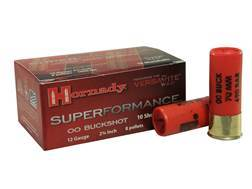 "Hornady Superformance Ammunition 12 Gauge 2-3/4"" 00 Buckshot Box of 10"